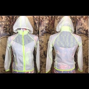 Rare! Nike neon yellow transparent windbreaker.